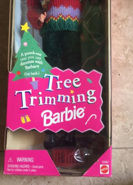 Búp bê barbie Tree trimming nguyên hộp
