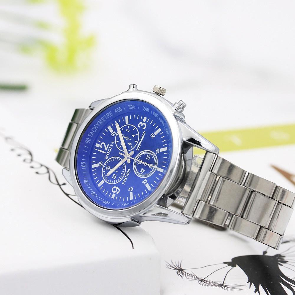 Đồng hồ nam Modiya cao cấp dây đeo kim loại lịch lãm DH104