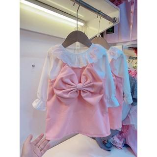 Bán sỉ Váy hồng nơ to cho bé gái