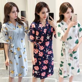 Bộ đồ ngủ Kimono tay ngắn phong cách Nhật Bản