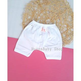 Quần ngắn sơ sinh. Quần đùi mặc bỉm màu trắng Baby Moon cho bé từ sơ sinh đến 9kg thumbnail