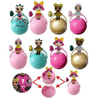 HYP 3 Pcs LOL Surprise Doll 7CM Ball Special Edition 2 Layer Shrink Film Toy Gifts For Children Kids @VN