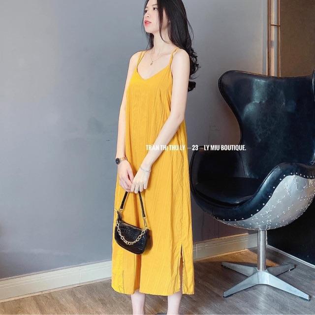 Váy đũi 4 dây lưng freesize 2 màu