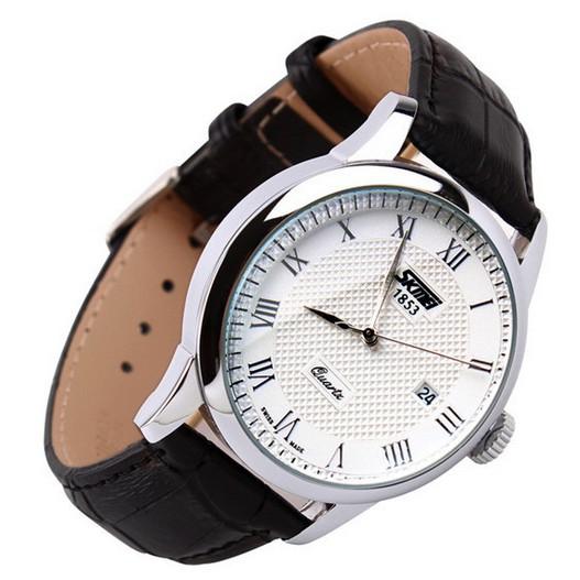 Đồng hồ nam dây da cổ điển Skmei 9058