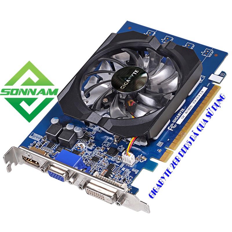 CẠC MÀN HÌNH GT730 GIGABYTE 2GB DDR5 CHÍNH HÃNG ĐÃ QUA SỬ DỤNG (CARD VGA)