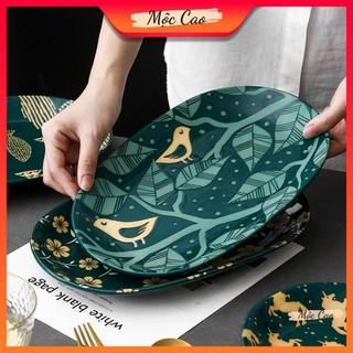 Đĩa decor, đĩa sứ cao cấp tráng men 2 lớp dùng trong nhà hàng - bát đĩa decor phụ kiện bàn ăn sang trọng