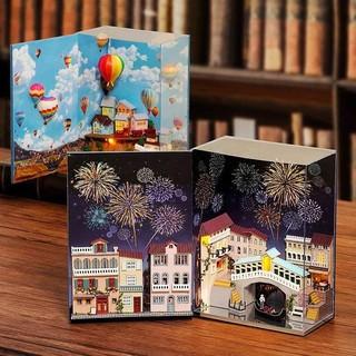 Mô hình nhà gỗ búp bê Dollhouse DIY – N001 N002 Mini Book Series