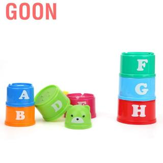 Goon Stack Cup Educational Baby Toys Rainbow Color Funny Piles Children Toy Set