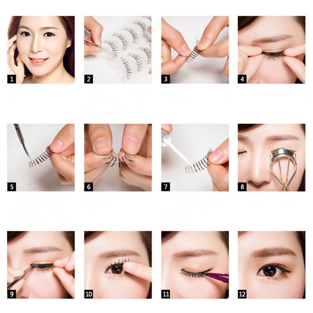 1 Pairs Long Cross Thick False 3D Dense Eyelashes Nautral Eye Lashes-1