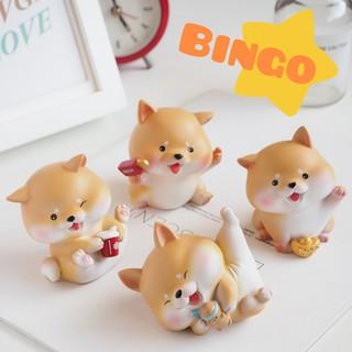 [Size lớn] Mô hình cún Bingo chó Shiba tài lộc may mắn dễ thương trang trí bàn làm việc, taplo ô tô, bày kệ phòng khách