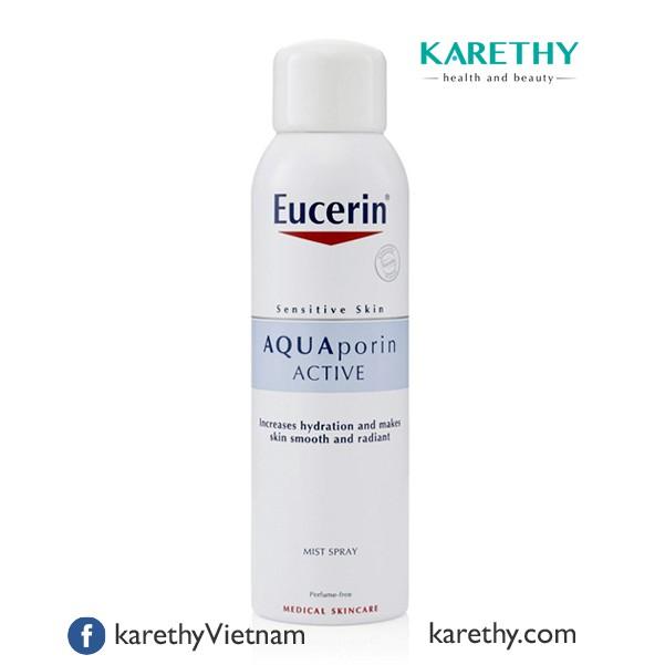 Eucerin AQUAporin Active Mist Spray: Xịt Khoáng Cho Da Nhạy Cảm (150 ml)
