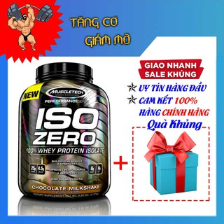 Sữa tăng cơ Iso Zero hộp 4lbs (1.8Kg) – Vị Chocolate – Tặng túi gym cao cấp – Hàng Chính hãng Muscletech USA
