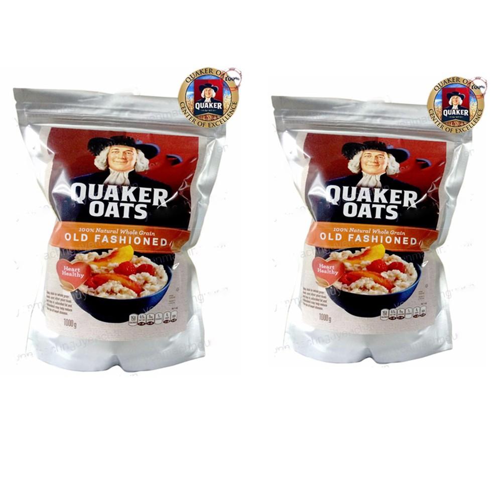 [ Freeship 99k Toàn Quốc ] Combo 2KG Yến Mạch Quaker Oats NK từ Mỹ 100% Organic