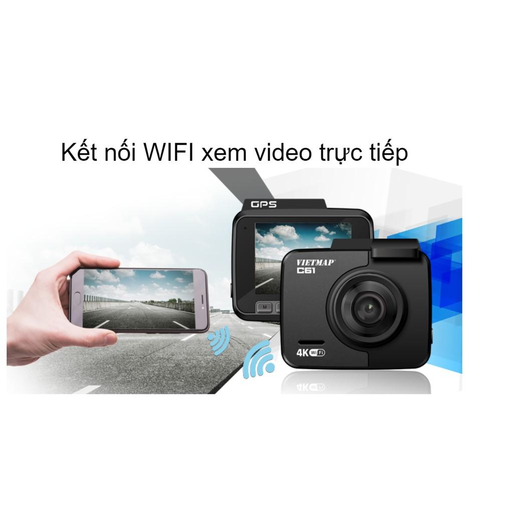 Camera hành trình Vietmap C61 | 4K GPS Cảnh báo giọng nói + Kèm thẻ Nhớ - Hãng phân p