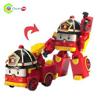 Đồ Chơi Robot biến hình Robocar Roy Xe Cứu Hỏa ChuanToy DCA022