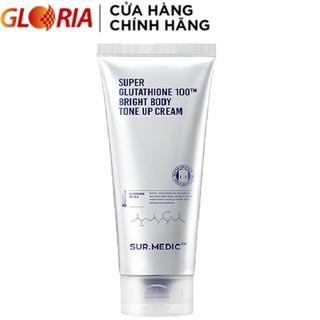 Kem Nâng Tone Da Toàn Thân Surmedic Super Glutathione 100TM Bright Body Tone Up Cream 150ml