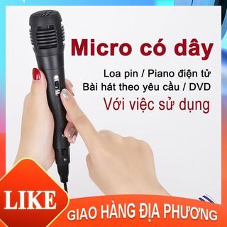 Micro đa năng / Micro Karaoke cho loa kéo Daile / Aige / Zansong V12 (đen) [HT10003]