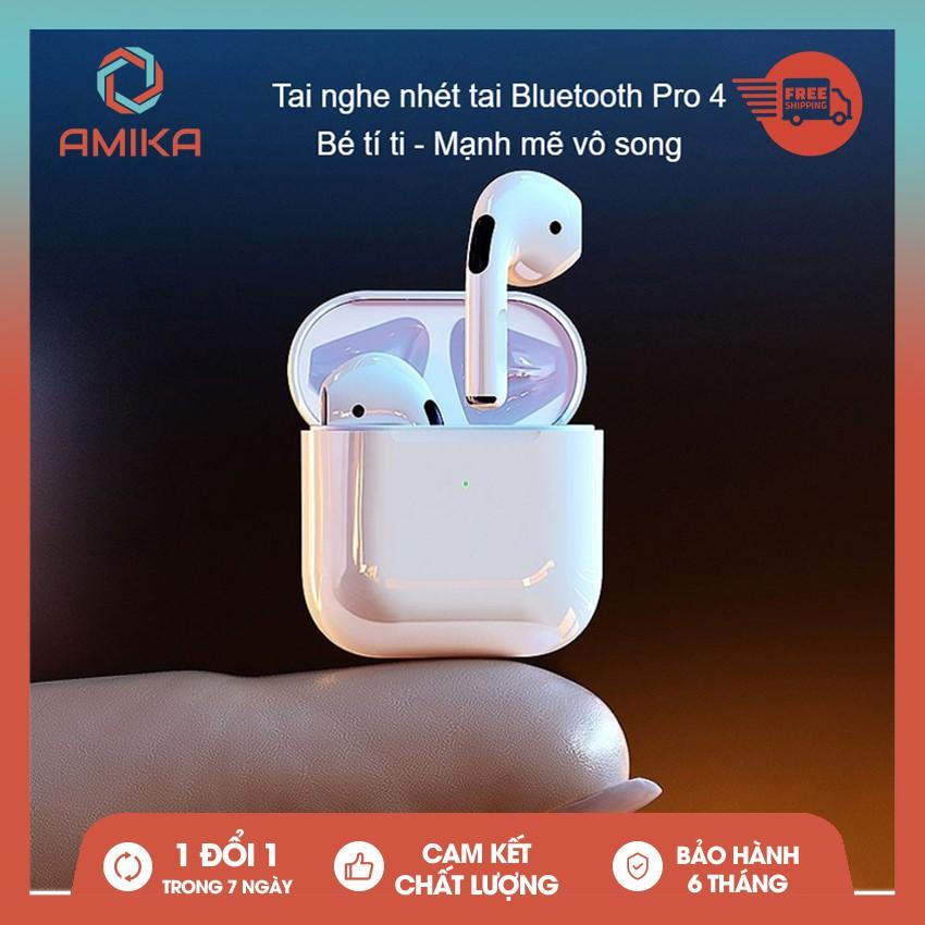 Tai nghe Bluetooth không dây Airpods Pro 4 tích hợp tất cả điện thoại Apple iPhone, Samsung, Oppo, Xiaomi