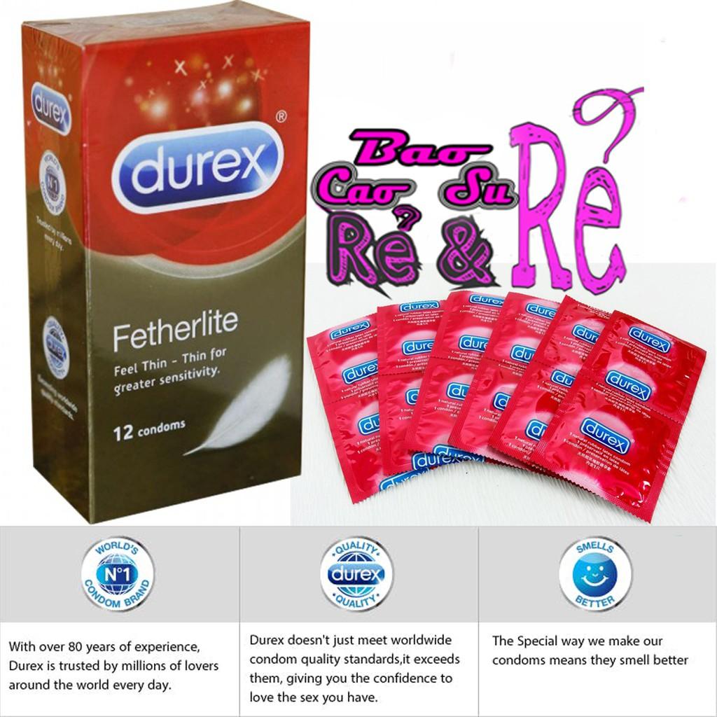 Bao Cao Su SIÊU MỎNG Durex Fetherlite Hộp 12 cái