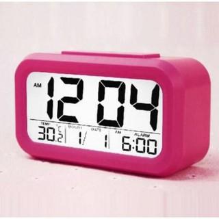 Đồng hồ báo thức kỹ thuật số hình chữ nhật ( xanh lá)