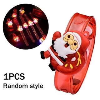 Christmas Watch Toy Christmas Santa Claus Light Flash Watch For Kids Christmas Toys Bracelet M5E5