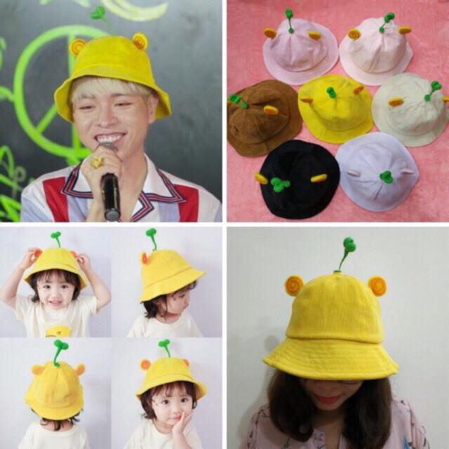 SỈ LẺ GIÁ GỐC Mũ Nón Maruko 3D Rộng Vành Nhiều Kiểu Mầm Cây Bucket Hat Ulzzang Kaki Nhung Siêu Cute
