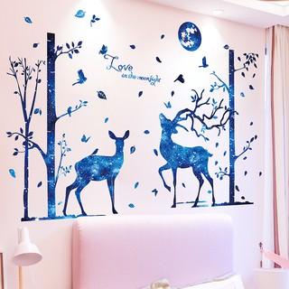 Creative wallpaper self-adhesive bedroom warm girl room decorations wallpaper gi