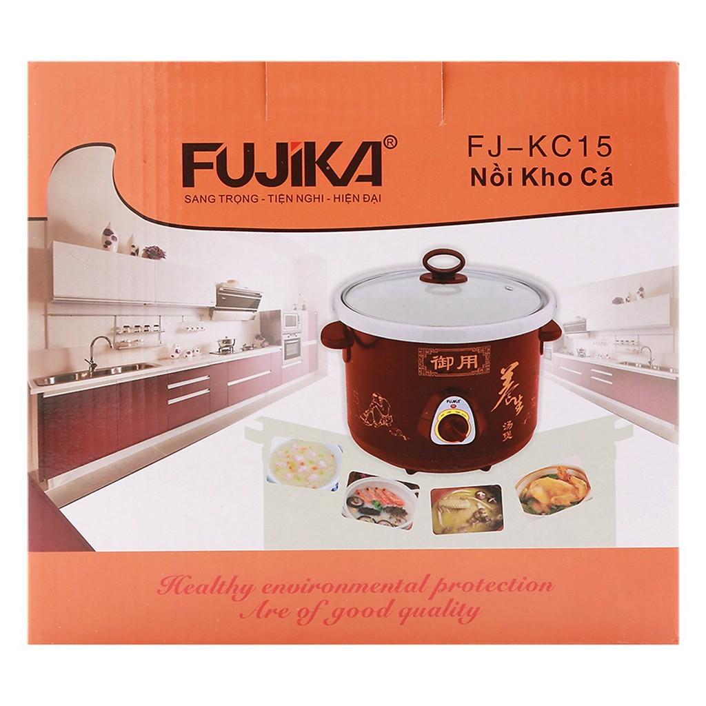 Nồi Kho Cá, nồi nấu chậm Fujika FJ-KC15/25 dung tích 1.5L/2.5L nắp kính, lòng trắng dùng điện, bảo hành 12 tháng
