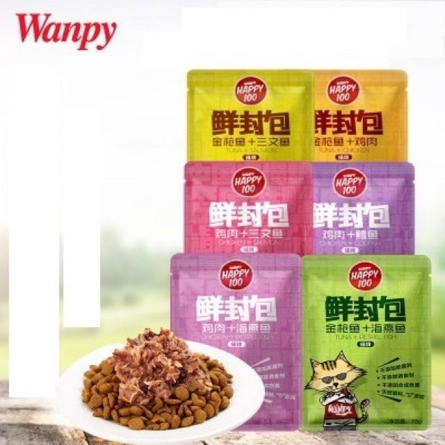 Pate Wanpy Happy 100 gói 70g ch