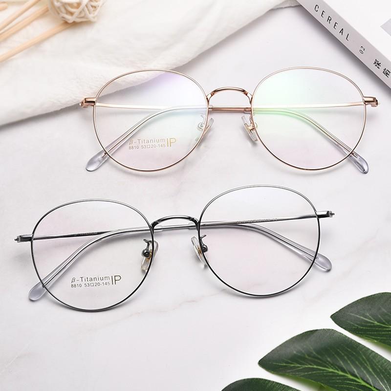 กรอบแว่นตาไทเทเนียมบริสุทธิ์สำหรับชายและหญิงน้ำหนักเบากรอบแว่นตา 8810