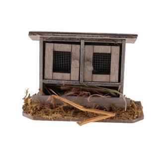 Mô hình chuồng gà mini dễ thương 1 12 trang trí nhà búp bê xinh xắn