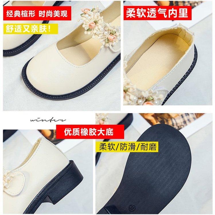 Giày Búp Bê Mũi Tròn Đính Hoa Thời Trang Cho Nữ