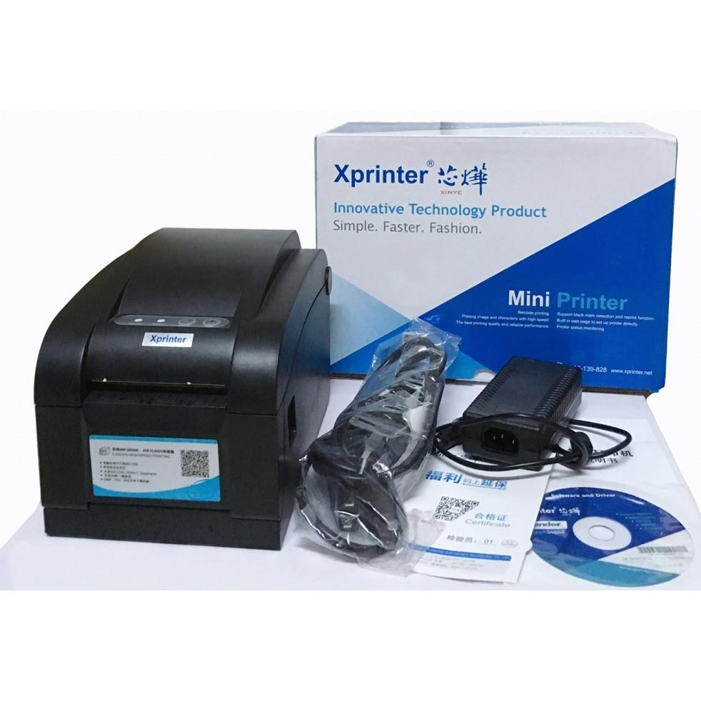 Máy In Mã Vạch Xprinter Xp350B Giá Rẻ Hàng Chính Hãng Máy Mới Bảo Hành 12 Tháng Giá Tốt