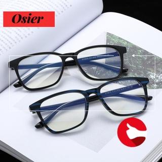 👒OSIER🍂 Vision Care Blue Light Blocking Lightweight Eye Eyestrain Computer Glasses Cut UV400 Retro Frame with Spring Hinges Nerd Reading Gaming Glasses Eyewear Unisex Glasses
