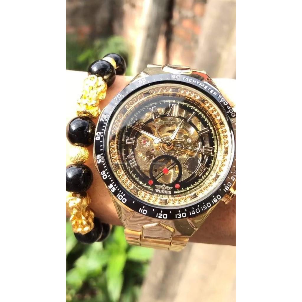 (Mẫu HOT 2019) Đồng hồ cơ chính hãng Winner W2 cao cấp, phong cách thượng lưu