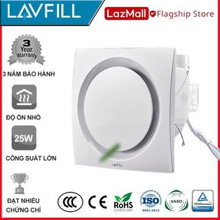 Quạt thông gió âm trần mặt phẳng LAVFILL LFCV-16D, LFCV-12D