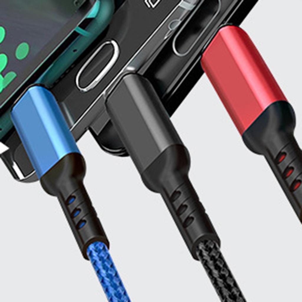 Dây Cáp Sạc Nhanh Usb Loại C 3 Trong 1 Tiện Dụng Cho Iphone Samsung Xiaomi