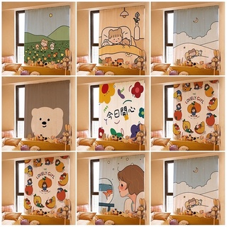 Rèm cửa dán trang trí phòng ngủ hoạ tiết dễ thương tiện dụng