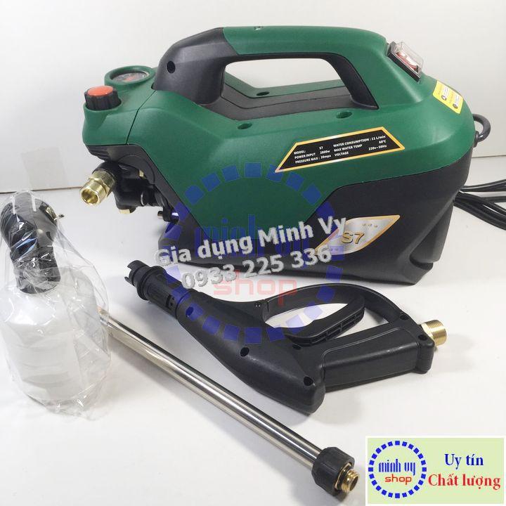 Máy rửa xe chỉnh áp ZUKUI S7 - 2800W - dây cao áp 15m - tặng bình bọt tuyết ,thanh nối inox.