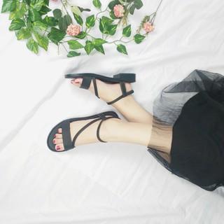 Giày sandal nữ đi học - FreeShip - Giày sandal nữ đi học quai hậu, đế nhựa PU cao 2p mang đi làm đi học đi chơi - TB06 F thumbnail