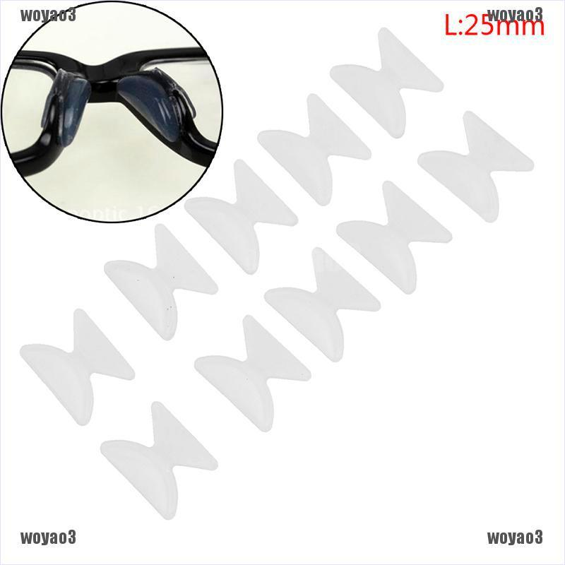 [🐕🐕Mine] 5Pairs Glasses Eyeglass Sunglass Spectacles Anti-Slip Silicone Stick On Nose Pad [VN]