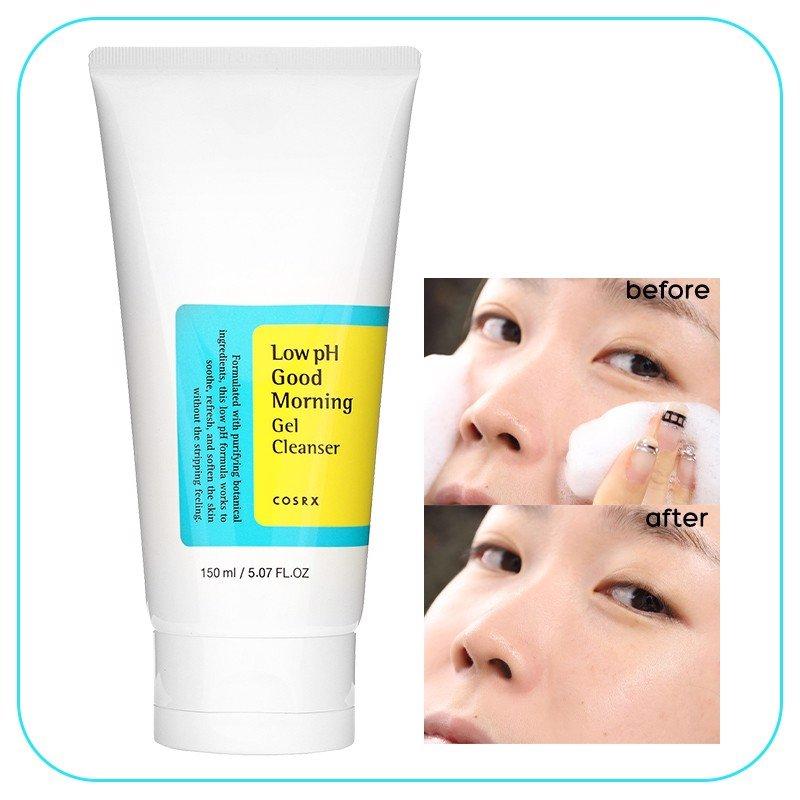 Sữa Rửa Mặt Diu nhẹ và Cân Bằng Da Cosrx Low pH Good Morning Gel Cleanser 150ml - Hàn Quốc Chính Hãng