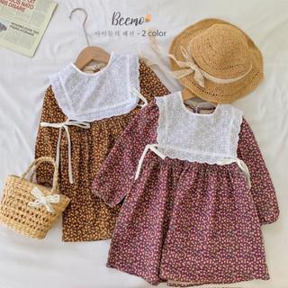Set váy nhung tăm kèm yếm