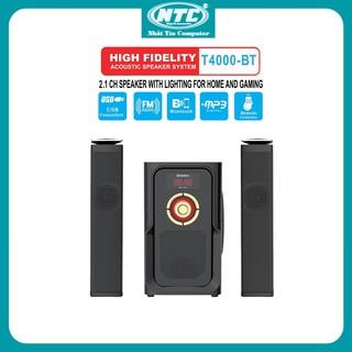 Loa vi tính 2.1 kiêm Bluetooth USB thẻ nhớ Bosston T4000-BT 60W led RGB 7 màu, nguồn 220V (Đen) - Nhất Tín Computer