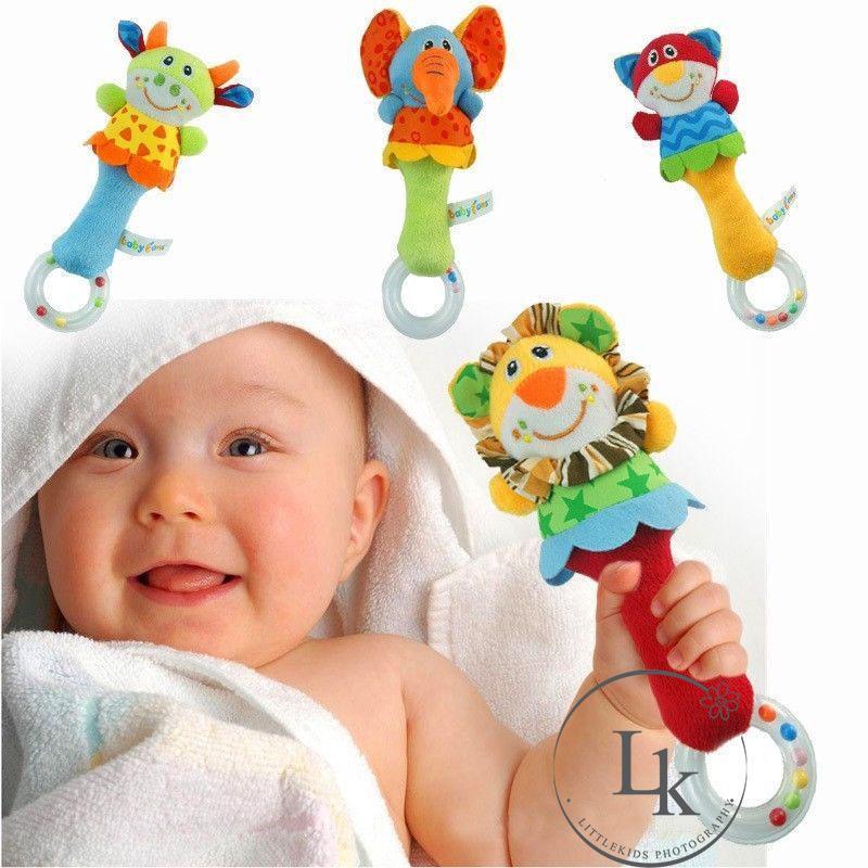 .LV-Động vật phim hoạt hình màu sắc bé rattle đồ chơi