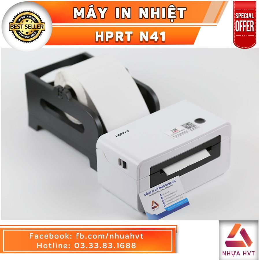 Máy in nhiệt chuyên dụng in đơn hàng online HPRT N41  NHỰA HVT màu trắng