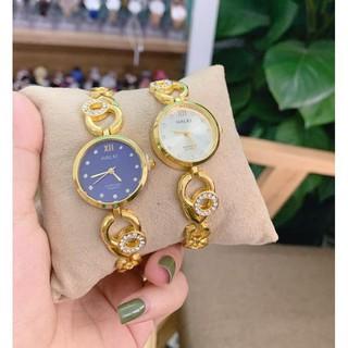 Đồng hồ nữ Halei LT 7049 dạng lắc tay xinh xắn cao cấp, dây hợp kim không rỉ
