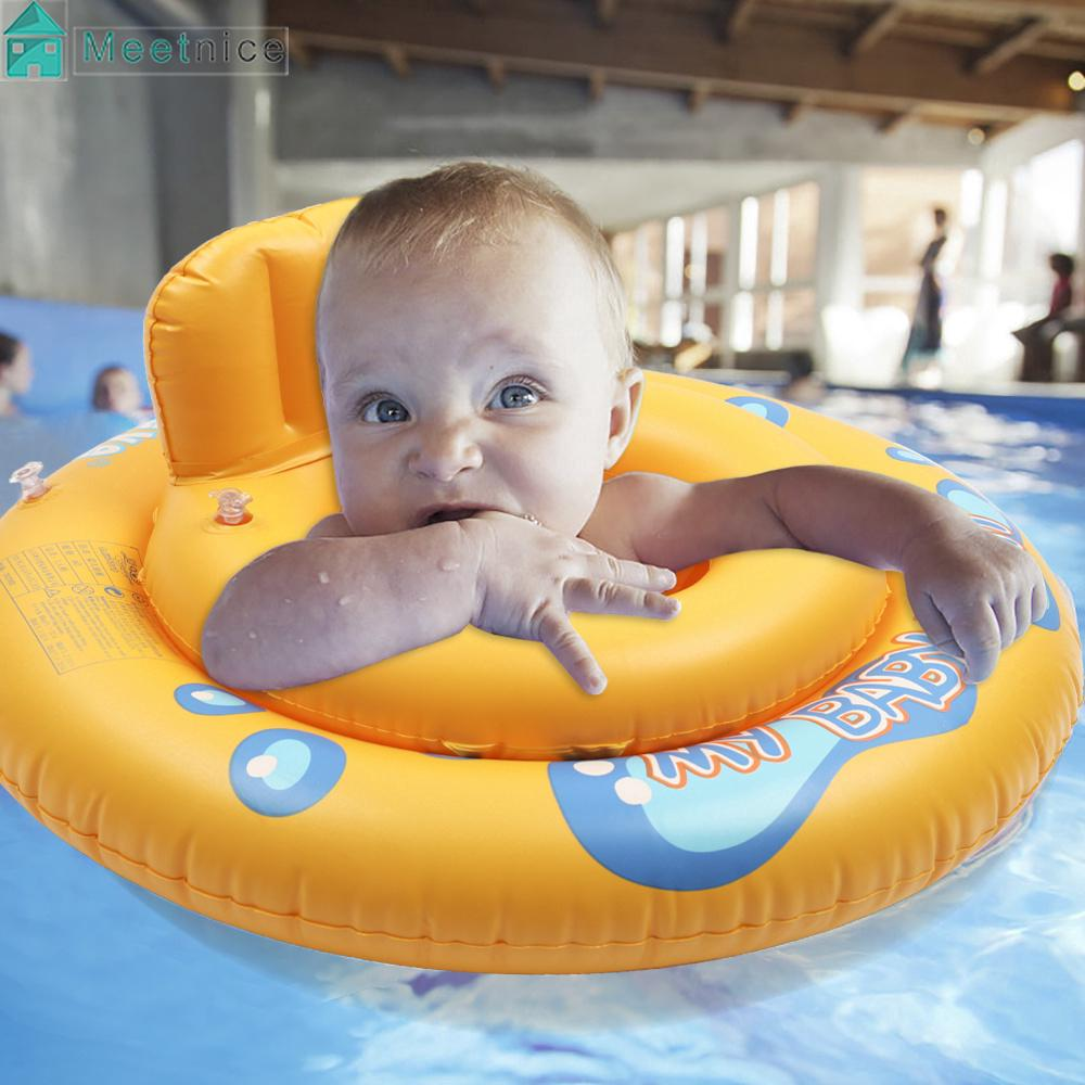 Baby Kids Swimming Inflatable Ring Safe Seat Float Raft Chair Beach Pool Toy Fun