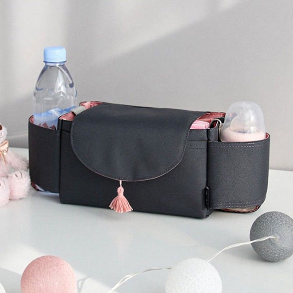 For Baby Stroller Diapers Multifunctional Large Capacity Hanging Portable Accessories Storage Bag