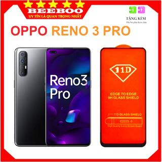 Kính cường lực Oppo Reno 3 Pro – Full màn hình 111D và Trong suốt – Độ cứng 10H [FreeShip_50K] . .